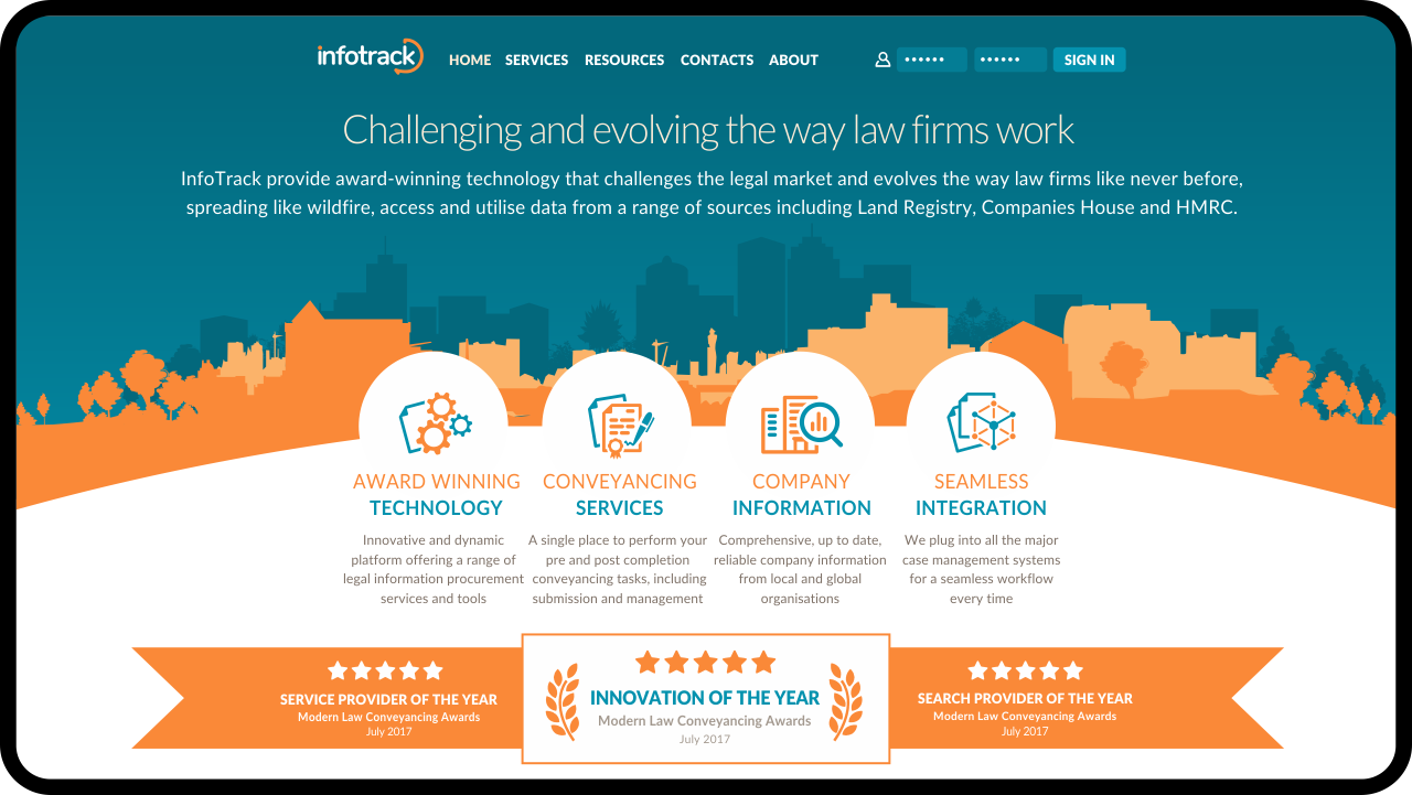 Infotrack Marketing Website 1b